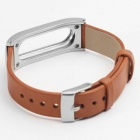 Xiaomi Miband Leather Wristband - Silver + Brown