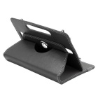 ENKAY 360 Degree Rotation Protective PU Leather Case for 7 inch Tablet - Black