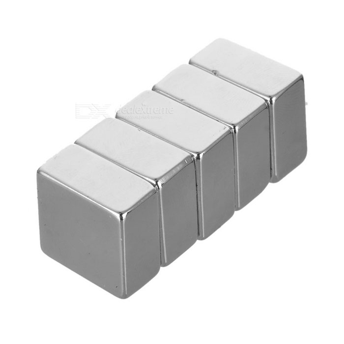 20*20*10mm Square NdFeB Magnet - Silver (5PCS)