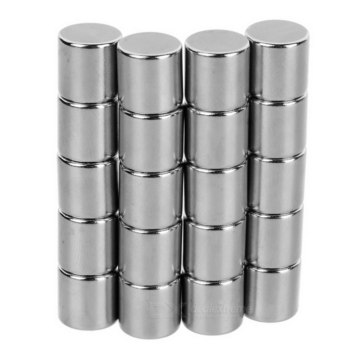 10*10mm Cylindrical NdFeB Magnet - Silver (20PCS)