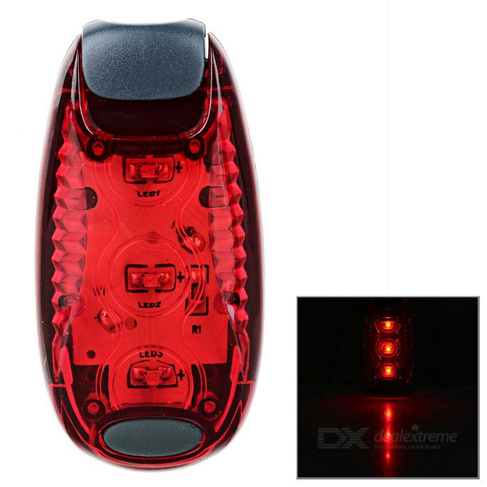 Leadbike 2-Mode Red LED Backpack, Helmet Lamp, Bike Taillight - Red