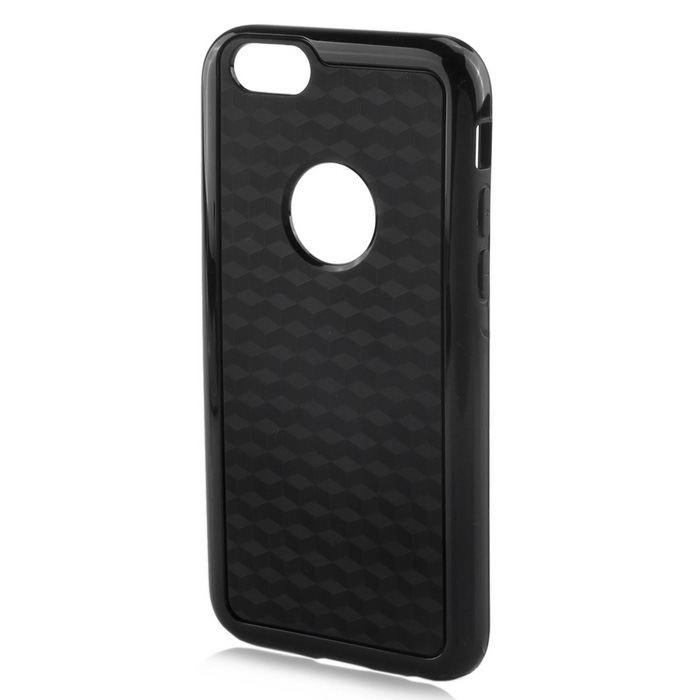 Stylish 3D Carbon Fiber Style Protective Back Case for IPHONE 6 PLUS / 6S PLUS - Black