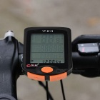 "BOGEER 1.7"" 24-Function Water-Resistant Bike Computer - Black + Orange"