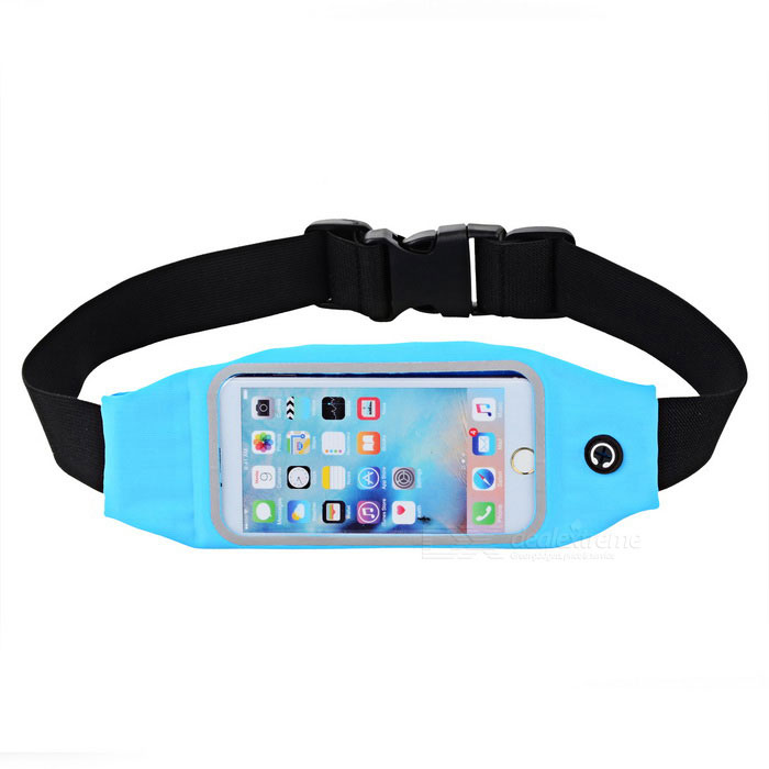 Outdoor Elastic Waterproof Cycling / Running Waist Bag - Black + Blue
