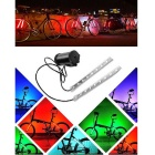 Waterproof 8-LED Colorful Light Bicycle Warning Light Spoke Light Bar - Black + White