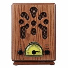 Shenle Retro Wooden 5W BT Speaker & AM/FM Radio - Brown (AC 220V, US)