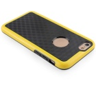 Stylish 3D Carbon Fiber Style Protective Back Case for IPHONE 6 / 6S - Black + Yellow