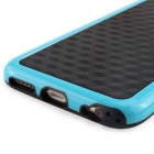 Stylish 3D Carbon Fiber Style Protective Back Case for IPHONE 6 / 6S - Black + Blue