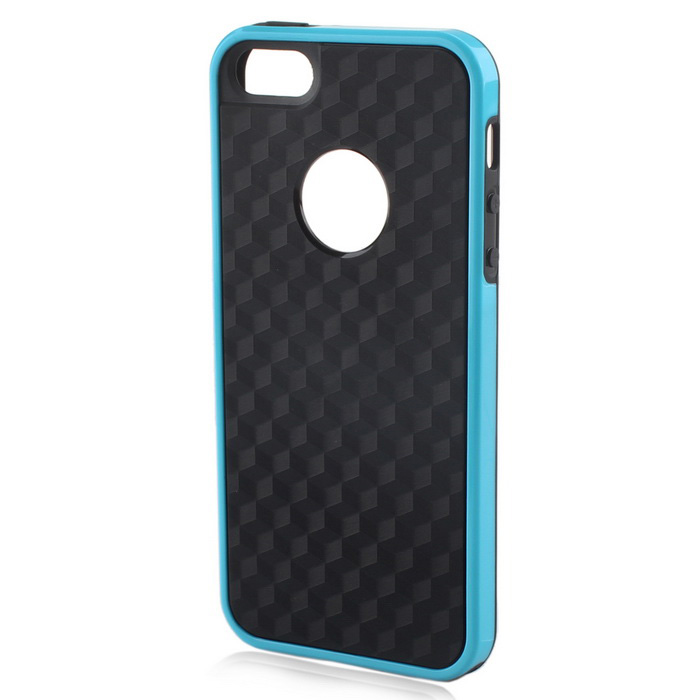 Protective Back Case for IPHONE 5 / 5S / SE - Black + Blue