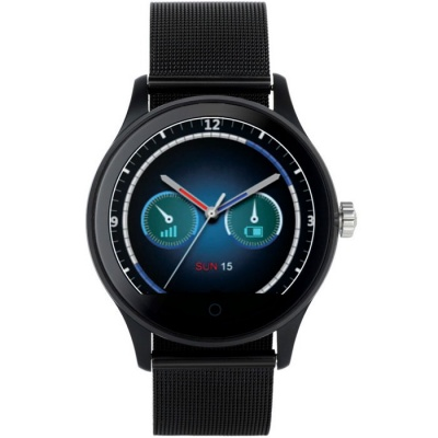 K88H Round Screen Stainless Steel Strap IP54 Smart Watch