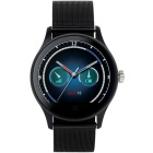 K88H Round Screen Stainless Steel Strap IP54 Smart Watch w/ Heart Rate, Sleep Monitoring - Black