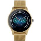 K88H Round Screen Stainless Steel Strap IP54 Smart Watch w/ Heart Rate, Sleep Monitoring - Golden