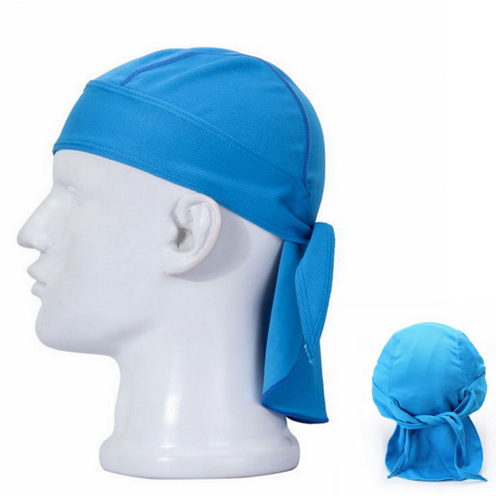 Qinglonglin Men's Stylish Quick-Drying Fabric Cycling Hat - Blue