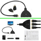 Micro / Mini HDMI / HDMI to 3-Port HDMI M-F Switcher Cable - Black