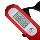 50kg/10g Portable Digital Electric Hanging Luggage Weight Scale w/ LCD Screen - Red + White