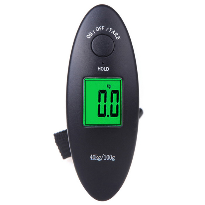 "1.5"" LCD Display Digital Portable Electronic Luggage Weight Hanging Scale - Black (40kg /100g)"