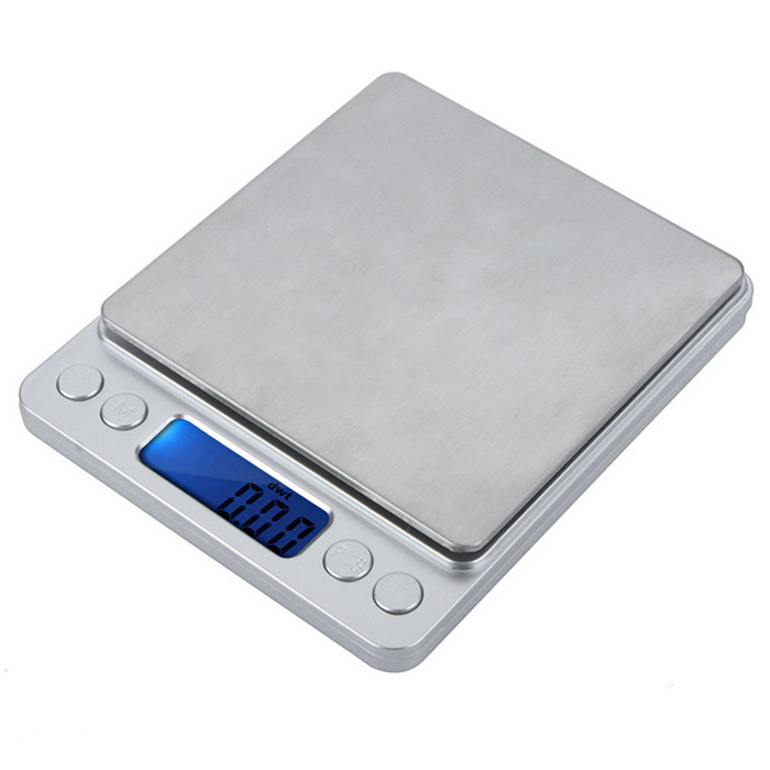 High Accuracy Mini Electronic Digital Platform Jewelry Scale Weighing Balance 300g/0.01gDigital Scales<br>Form  ColorSilver WhiteModel-Quantity1 DX.PCM.Model.AttributeModel.UnitMaterialABSTypeJewelry ScaleScreen Size1.5inchMax. Weight300gMin. Weight0.01gUnitg,ct,oz,dwt,gnDivision0.01gOperating Temperature10-30 Celsius degree / 50-86 FahrenheitAuto Power OffYesPowered ByAAA BatteryBattery Number2Battery included or notNoPacking List1 x Platform Scale 1 x Small Tray 1 x Large Tray 1 x English User Manual<br>