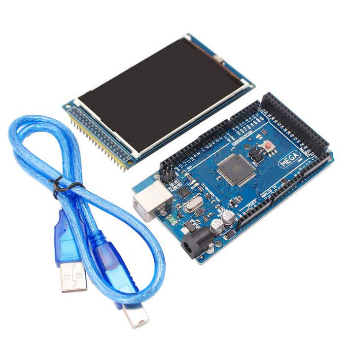 Mega2560 R3 + 3.2 inch TFT IPS 320 x 480 Color Full-HD LCD Module for Arduino