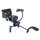 YELANGU DSLR Rig Movie Kit Shoulder Mount Rig w/ Follow Focus, Matte Box for All DSLR Cameras
