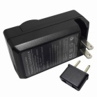 US Plug Battery Charger, EU Plug Adapter para BLM-1-Preto (100 ~ 240V)