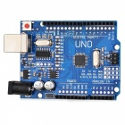 Improved Version UNO R3 ATMEGA328P Board Compatible with Arduino - Blue