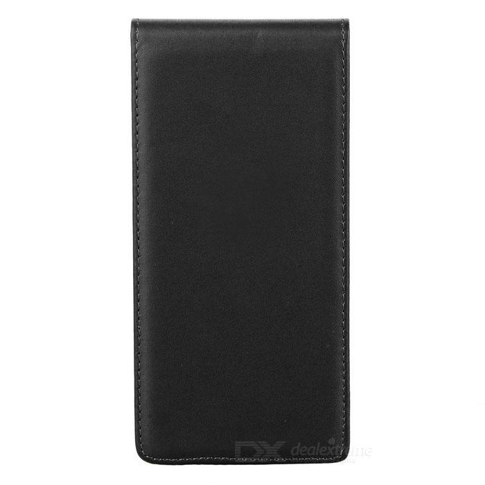Protective Top Flip Open Leather Case Cover for Sony Xperia Z5 - Black