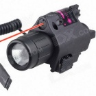 ACCU M6 Multifunctional 2-in-1 LED 350lm White Flashlight + Red Laser - Black (1*CR123A / 3V)