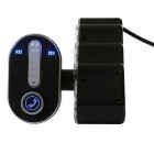 Car Bluetooth V3.0 Hands-free Kit MP3 Player FM Transmitter - Black + Silver