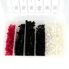 Car Clips Auto Body Retainer Fastener ClipS Assortment for Mercedes-Benz - White + Black (375PCS)