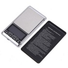 200g x 0.01g Mini Digital Jewelry Pocket Scale - Silvery White + Black