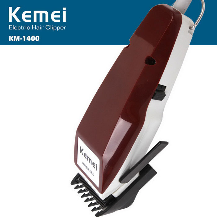 Kemei KM-1400 Professional Wired Electric Hair Clipper Trimmer pro muže-hněďhnědý (EU Plug)