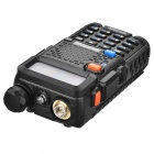 "BAOFENG UV-5R 1.5 ""LCD 4W / 1W 400 ~ 480MHz EU Plug Walkie Talkie - Black"