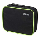 CADEN Camera Accessories Storage Bag Case for Canon, Nikon + More - Black + Fluorescent Green