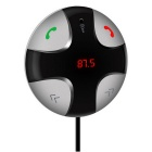 Bluetooth 3.0 Handsfree Car MP3 player FM Transmitter - Black + Silver