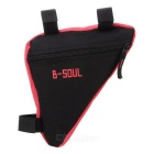 B-SOUL Quick-Release Triangular Bike Bicycle Bag - Black + Red (1L)