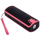 UHAPPY UT7 Bluetooth V3.0 Speaker w/ USB 2.0, TF, 3.5mm - Pink + Black