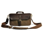 CADEN P1 Professional Canvas ILDC Camera Shoulder Bag Handbag - Brown