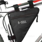 B-SOUL Outdoor Cycling Quick-Release Triangular Bike Bicycle Bag - Black (1L)