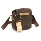 CADEN N1 Retro Shoulder Bag Micro DSLR Bag - Coffee