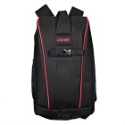 CADEN K6 Camera Shoulders Bag Backpack w/ Rain Cover - Black + Red