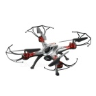 JJRC H29 2.4GHz FPV R/C Quadcopter w/ Wi-Fi, 6-Axis Gyro, 0.3MP Camera, Guard Covers - Black + Red