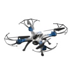 JJRC H29-H29W 2.4GHz FPV R/C Quadcopter w/ 6-Axis Gyro, 0.3MP Camera, Guard Covers - Black + Blue