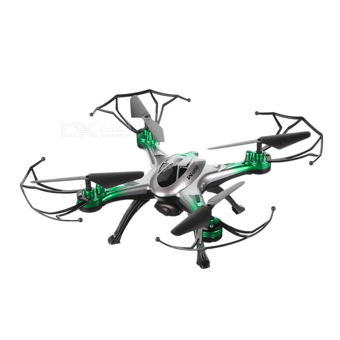 JJRC H29-H29W 2.4GHz FPV R/C Quadcopter w/ 6-Axis Gyro - Black + GreenR/C Airplanes&amp;Quadcopters<br>Form  ColorBlack + GreenModelH29 (H29W)MaterialABSQuantity1 DX.PCM.Model.AttributeModel.UnitShade Of ColorGreenGyroscopeYesChannels Quanlity4 DX.PCM.Model.AttributeModel.UnitFunctionUp,Down,Left,Right,Forward,Backward,Stop,Hovering,Sideward flightRemote TypeRadio ControlRemote control frequency2.4GHzRemote Control Range100 DX.PCM.Model.AttributeModel.UnitSuitable Age 12-15 years,Grown upsCameraYesCamera Pixel0.3MPLamp YesBattery TypeLi-polymer batteryBattery Capacity450 DX.PCM.Model.AttributeModel.UnitCharging Time40 DX.PCM.Model.AttributeModel.UnitWorking Time6~8 DX.PCM.Model.AttributeModel.UnitRemote Controller Battery TypeAARemote Controller Battery Number3 (not included)Remote Control TypeWirelessModelMode 2 (Left Throttle Hand)CertificationCEPacking List1 x Aircraft1 x Remote controller2 x Blades4 x Protection covers4 x Landing gears1 x Screwdriver1 x USB cable (62+/-2cm)1 x Camera (0.3MP, 720*576P)1 x Phone holder1 x Chinese &amp; English user manual<br>