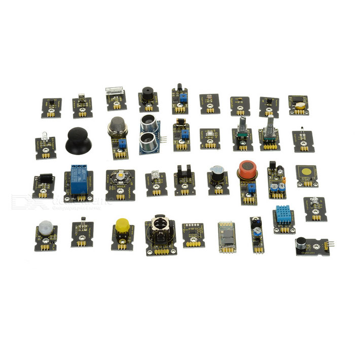 Keyestudio 36-in-1 Sensor Kit for Arduino Starters - Black
