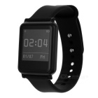 i7 Bluetooth 4.0 Waterproof Smart Watch Bracelet Health Wristband w/ Fitness Tracker - Black