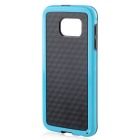 Stylish 3D Wall Carbon Fiber Stlye TPU Protective Back Case for Samsung Galaxy S6 - Black + Blue
