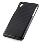 Stylish 3D Wall Carbon Fiber Stlye Protective TPU Back Case for SONY Z2 - Black
