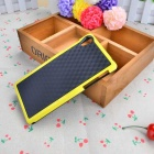 Stylish 3D Wall Carbon Fiber Stlye Protective TPU Back Case for SONY Z2 - Black + Yellow