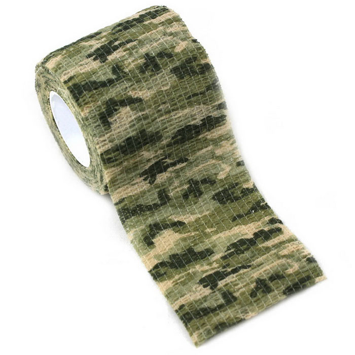 Non-Woven Fabrics Elastic Adhesive Tape - Jungle Camouflage (5 x 220cm)First Aid<br>Form  ColorGreen + Black + Multi-ColoredQuantity1 DX.PCM.Model.AttributeModel.UnitMaterialClothBest UseCamping,Mountaineering,Travel,CyclingPacking List1 x Adhesive Tape<br>