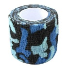 Non-Woven Fabrics Elastic Adhesive Tape - Blue + White Camouflage (5 x 220cm)